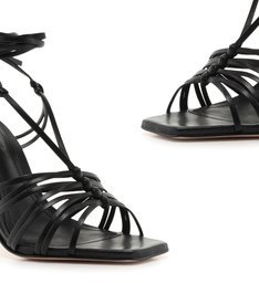 Sandália MultiStrings Lace-Up Black