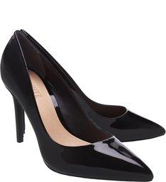 Sapato Scarpin Salto Fino Verniz Preto