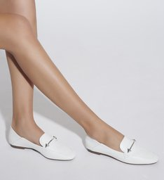 MOCASSIM LEATHER WHITE