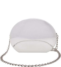 Clutch Metallic Lisa Prata