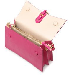"Shoulder Bag ""A to Z"" Lezard Pink"