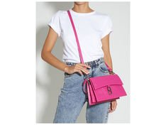 Shoulder Bag A to Z Lezard Pink