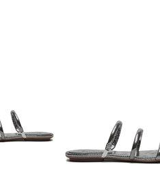 Sandália Rasteira Arc Metallic Prata