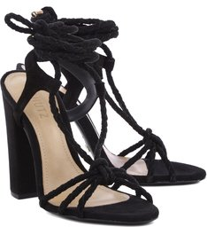 Sandália Lace Up Tie Black