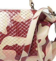 Bolsa Tote Kimber Camuflada Snake Vermelha