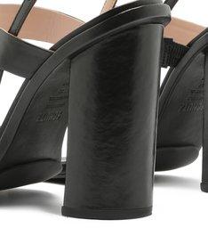 Sandália Salto Grosso Straps Black