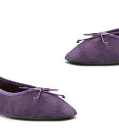 Sapatilha Ballerina Veludo Purple
