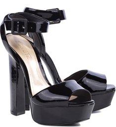 Sandália Seventies Verniz Black