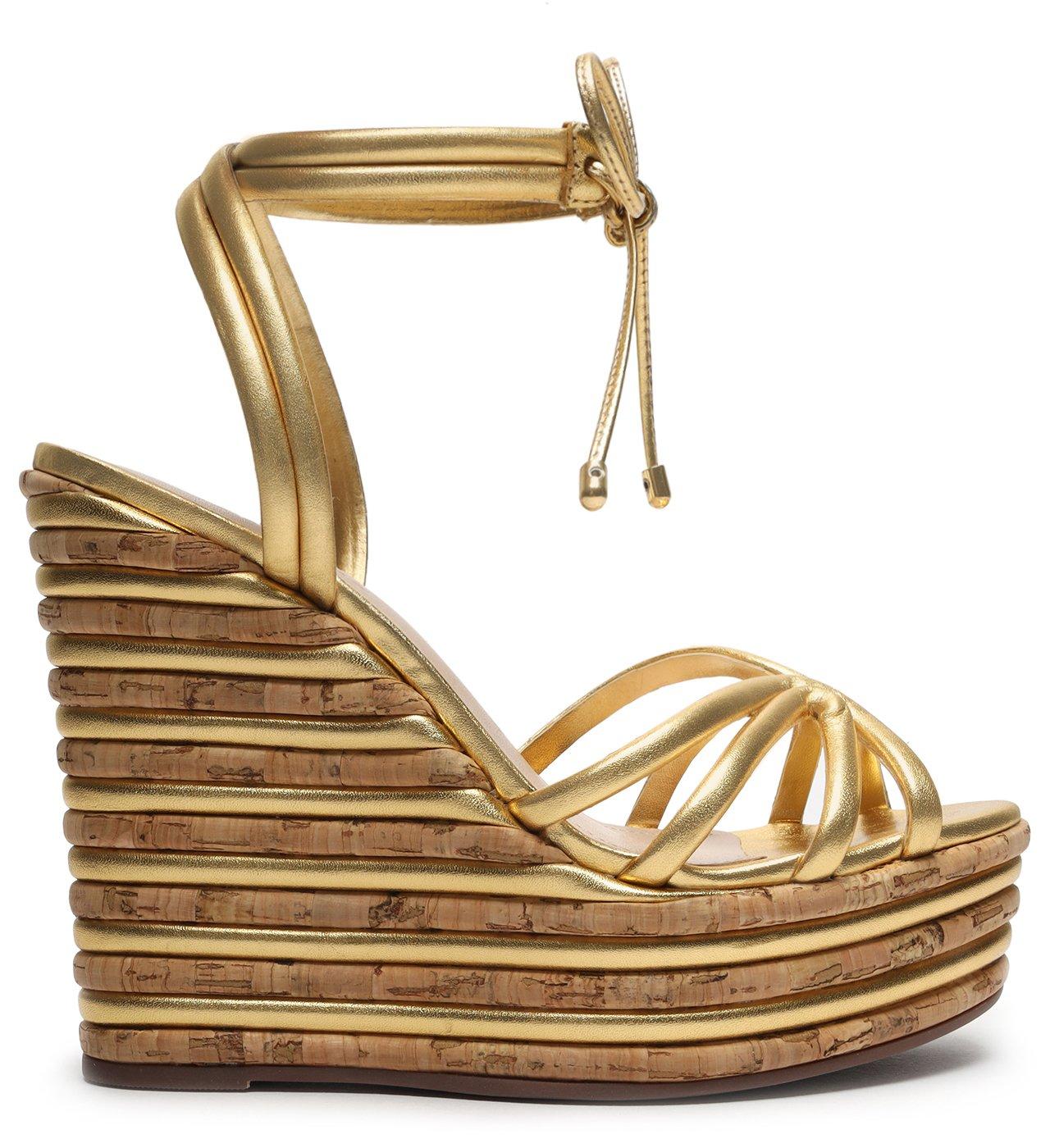 Sandália Anabela Fresh Glam Gold | Schutz
