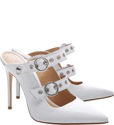 New Quereda Strap Mule High Changeable White