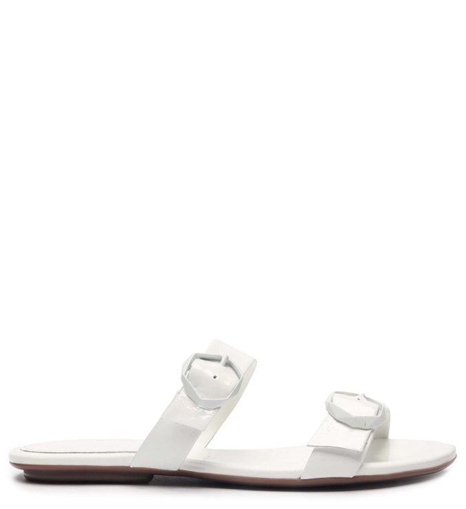 Flat Minimal Pop Buckle White