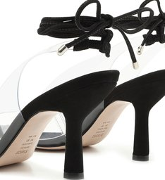 Scarpin Lace-Up Vinil Clear Black