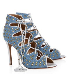 Sandália Amarração Jeans