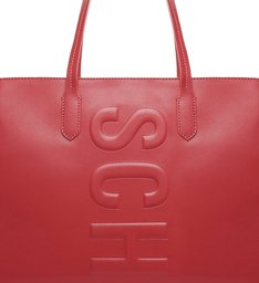 Bolsa Shopping Grande Couro Tassy Vermelha