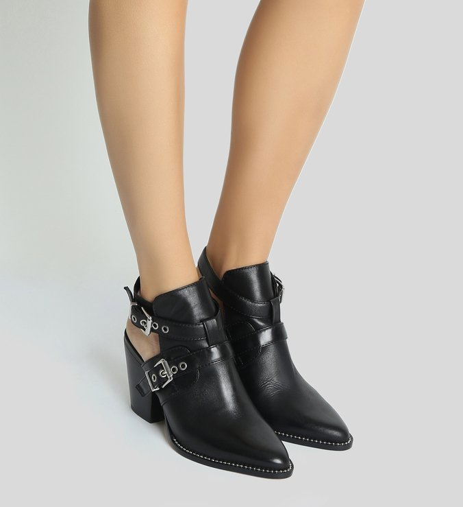 Bota Open Back New Western Black