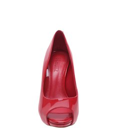 Peep Toe Myth Red Verniz