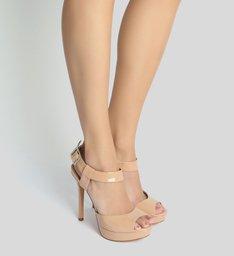 Sandália Super High Verniz Nude