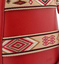 Bucket Bag Ethnic Red