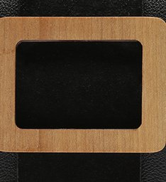POCHETE BUCKLE WOOD BLACK