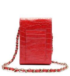 Bolsa Tiracolo Pequena 4GIRLS Believe Croco Vermelha