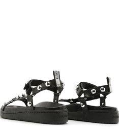Sporty Sandal Studs Black