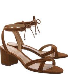 Sandália Block Heel Lace-up Wood
