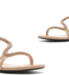 Sandália Rasteira Curves Glam Honey