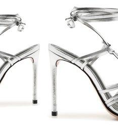 Sandália MultiStrings Lace-Up Prata