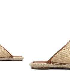 Flat Mule Ráfia Neutral