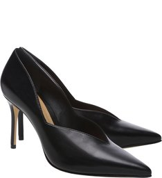 Scarpin Nuvem Leather Black