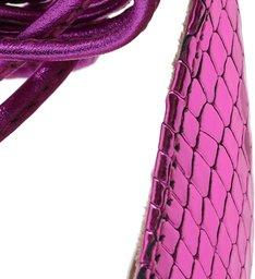 Sandália Rasteira Strings Metallic Violet