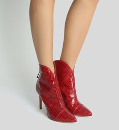 Bota New Western Croco Red