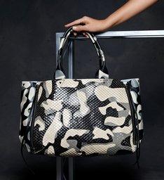 Bolsa Shopping Kimber Camuflada Snake Verde