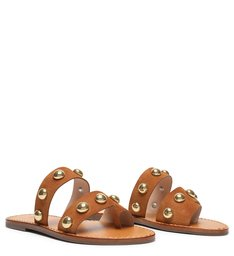 Slide Maxi Studs Brown