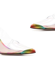 [ON DEMAND] Scarpin Lace-Up Vinil Clear Holo