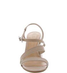 Sandália Block Heel Straps Cream