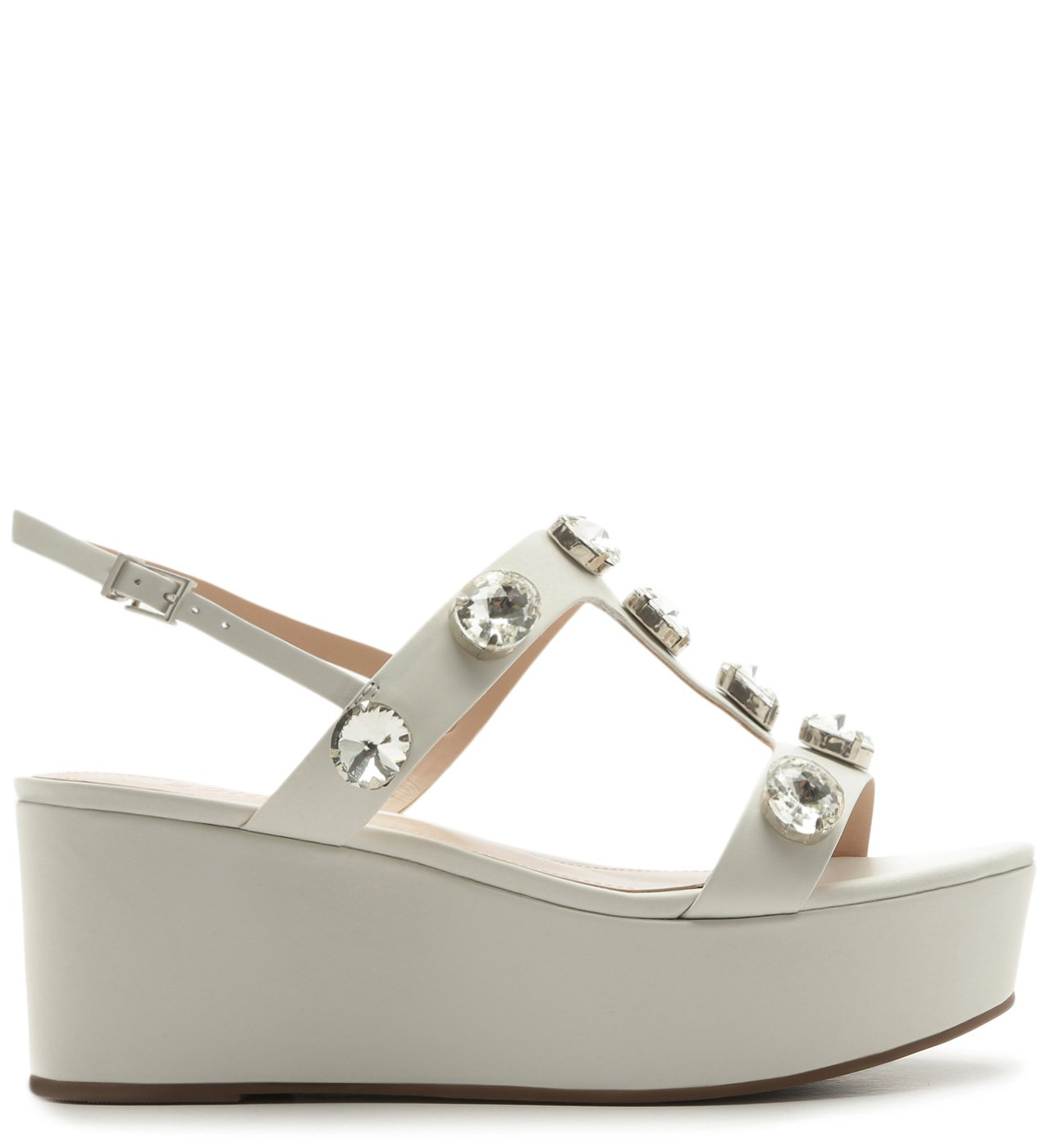 Sandália Anabela Power Glam White | Schutz