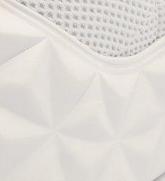 Tênis Cano Alto Knit Logo Branco