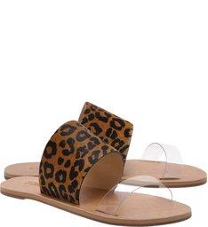 Slide Double Strap Animal Print