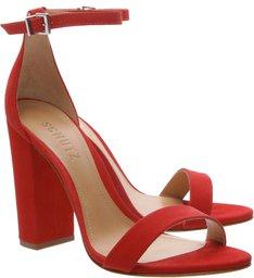 Sandália Gisele Salto Bloco Red