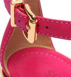 Sandália Rasteira Tachas Pink