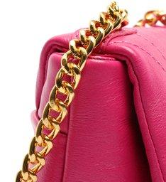 Bolsa Tiracolo Pequena Couro Treasure Pink