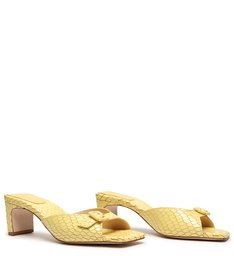 Sandália Mule Croc Retro Yellow