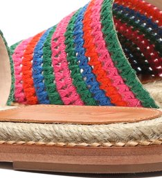 Slide Bohemian Pop Bordado Multicolor