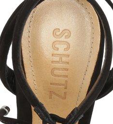 Sandália de Salto Fino Camurça Preta