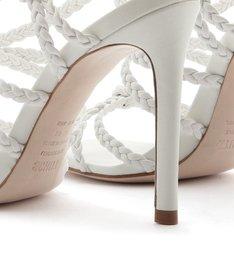 Sandália Salto Strings Tressê White