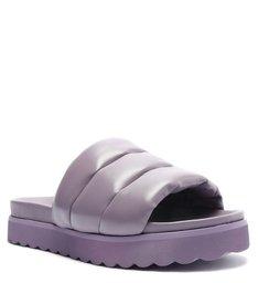 Sandália Papete Slide Tratorada Roxa
