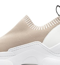 Sneaker Square Knit Neutral