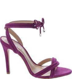 Sandália Lace-Up Nobuck Pink Lilac