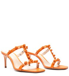 Sandália Mule Studs Full Color Tangerine